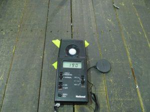LEDランプ 照度測定